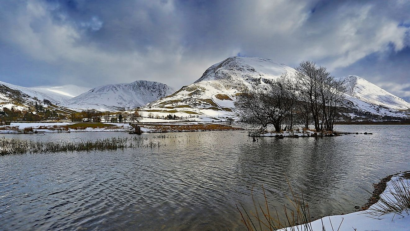 Cumbria County's Brothers Water in the Hartsop Valley, within England's Lake District National Park.
