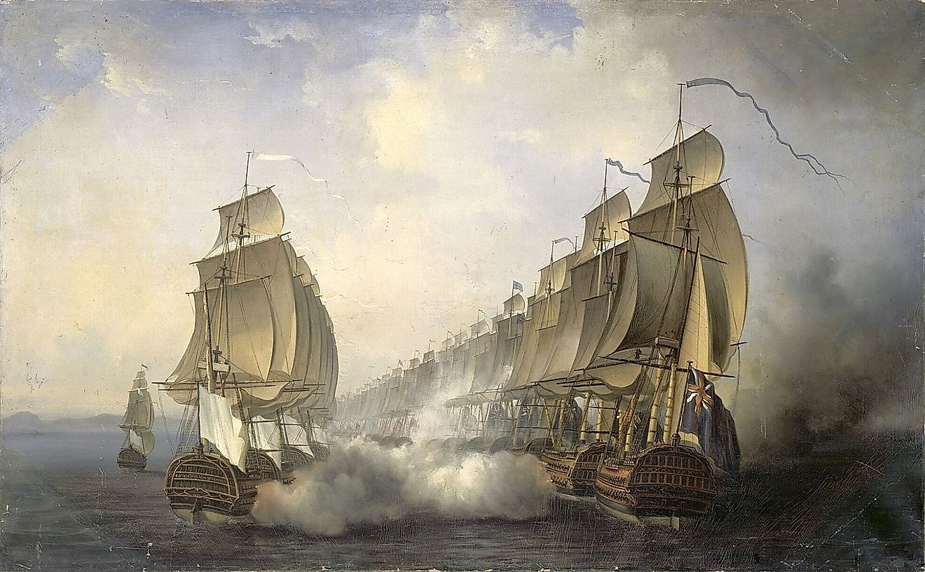 More details Battle of Cuddalore (June 20th 1783) between the French navy commanded by the Bailli de Suffren and the British one under the orders of Rear-Admiral Edward Hughes.