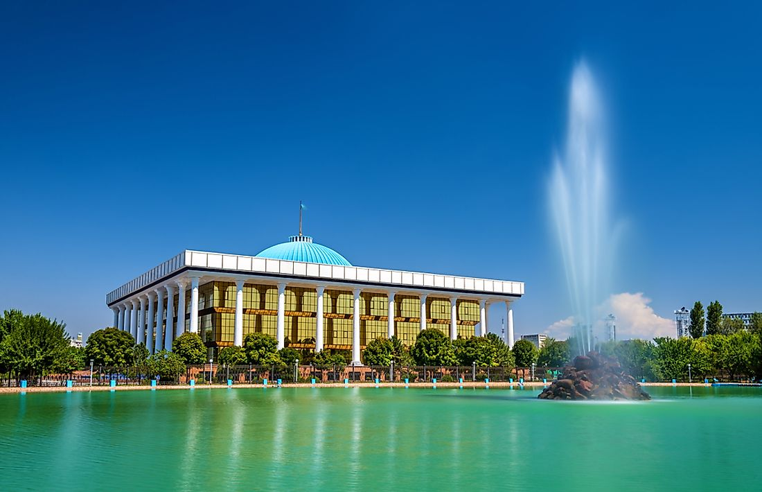 The building of the Government of Uzbekistan in its capital of Tashkent.