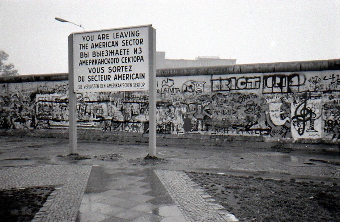 The Berlin Wall in 1988. Editorial credit: 360b / Shutterstock.com.