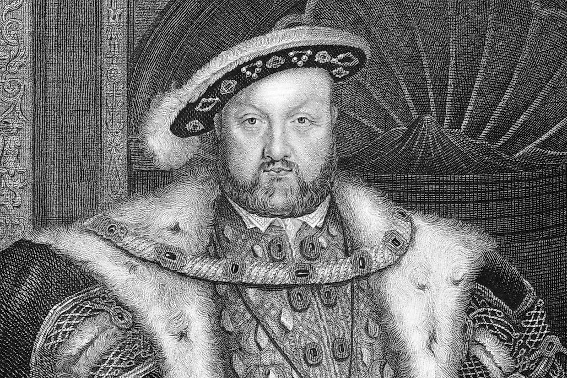 A portrait of Henry VIII.