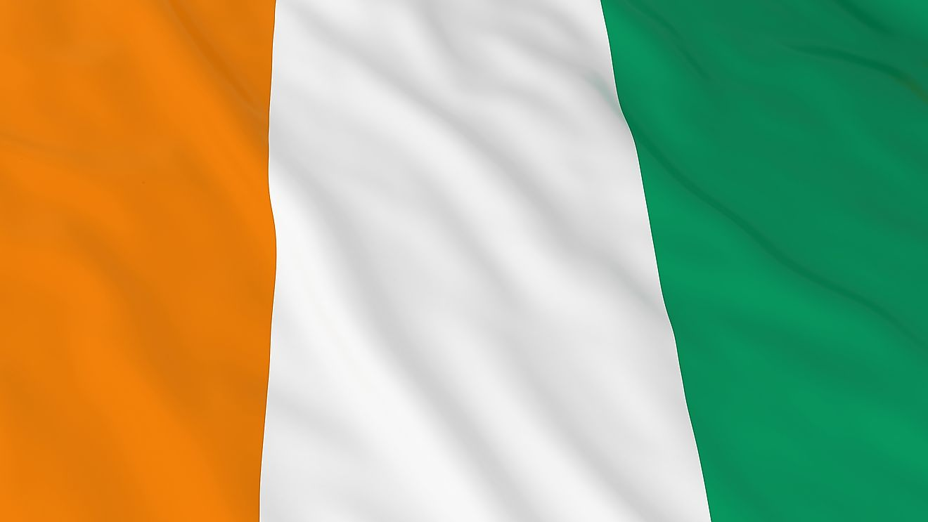 The flag of the Ivory Coast.