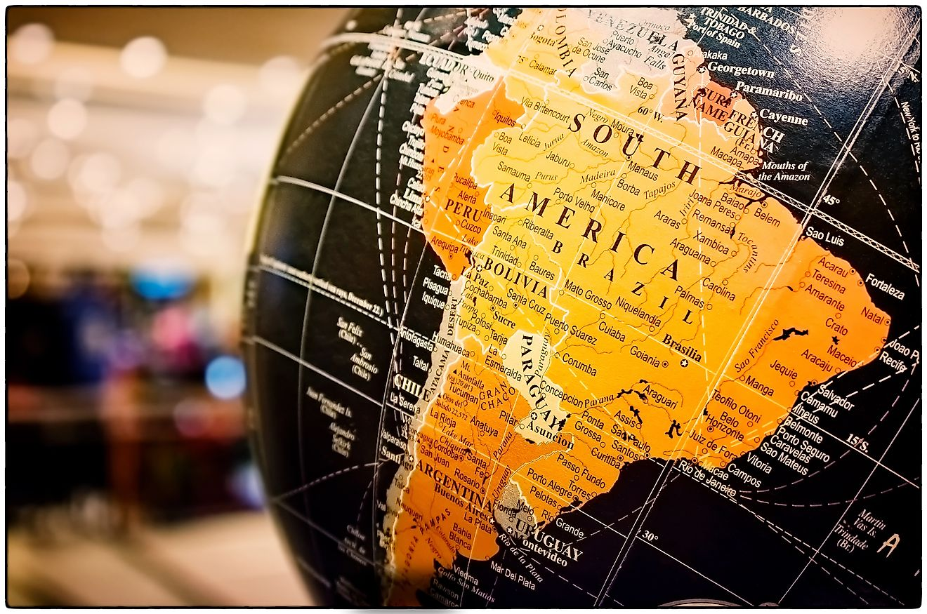 South America is made of 12 sovereign nations with Brazil being the largest by area. Image credit: Seika Chujo/Shutterstock.com