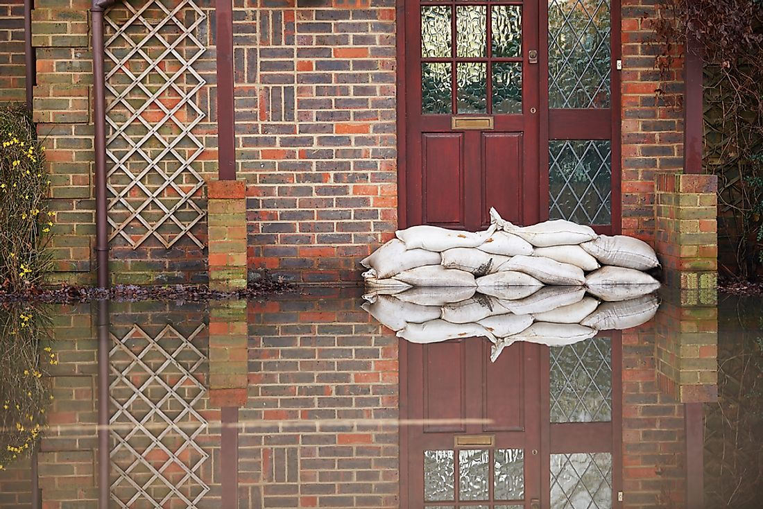 Sandbags are often used in the event of a flood.