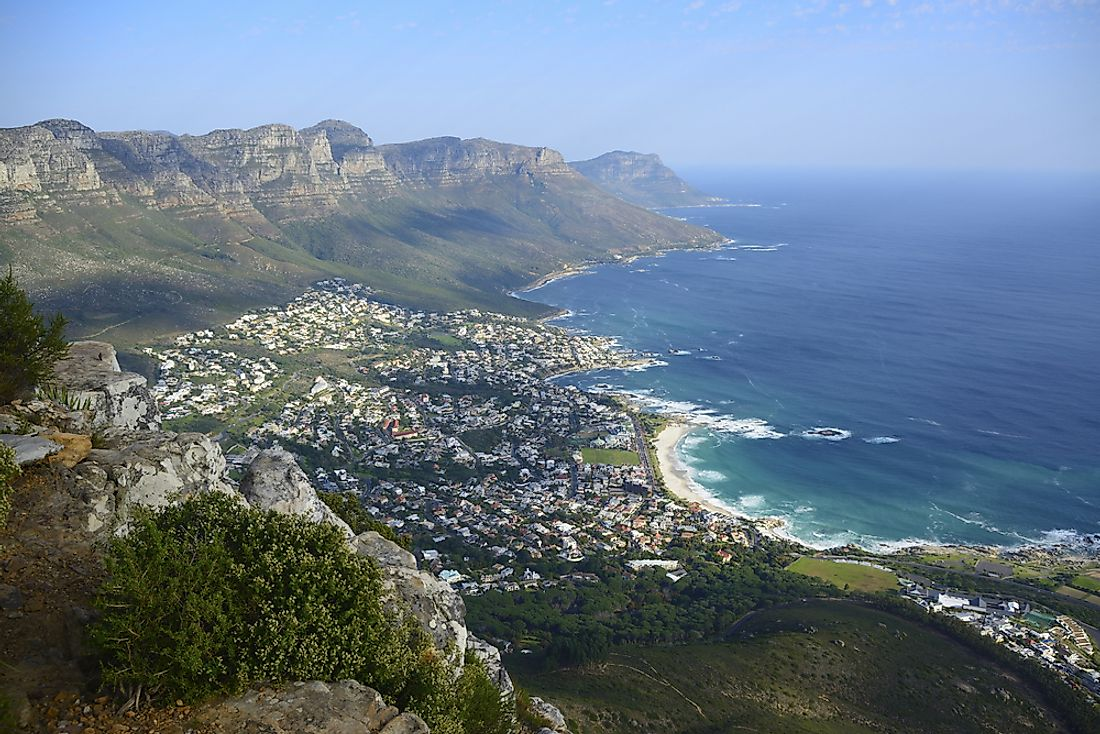 South Africa is located entirely in the southern hemisphere.