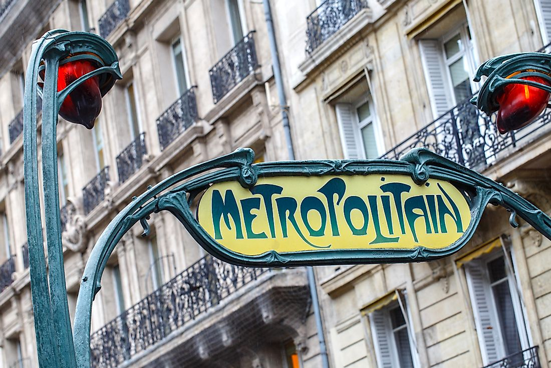 The Art Nouveau signs of the Paris metro.