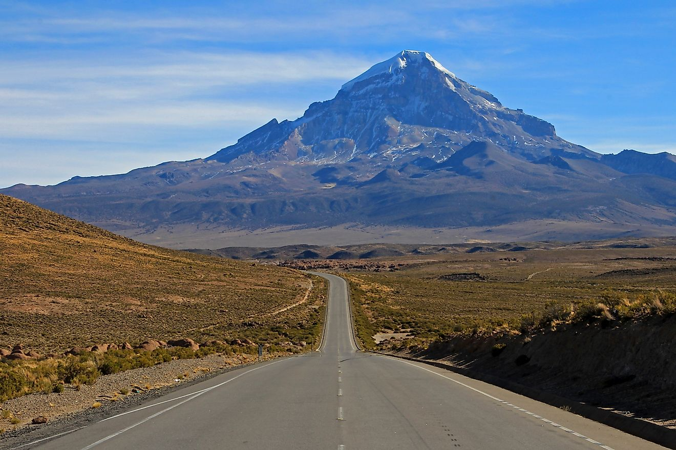 Sajama is the tallest mountain in all of Bolivia.