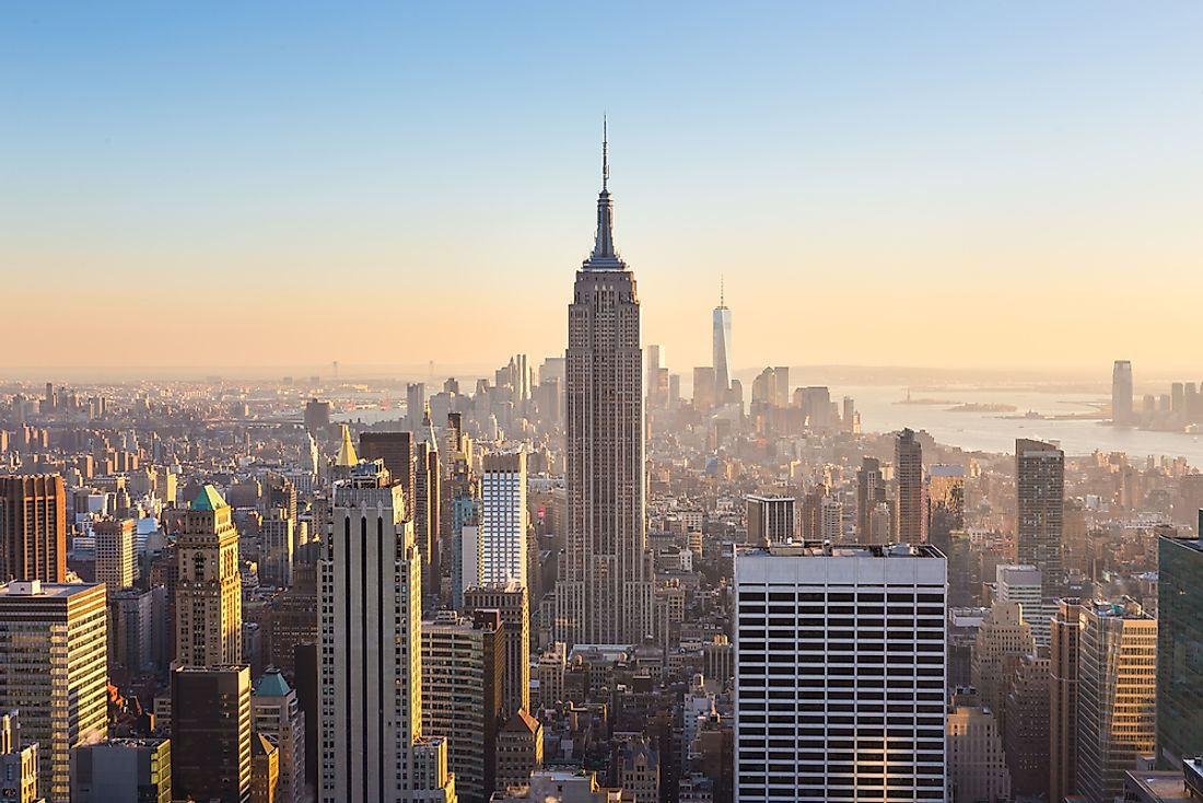 The Empire State building is a high-rise building in Manhattan, New York.