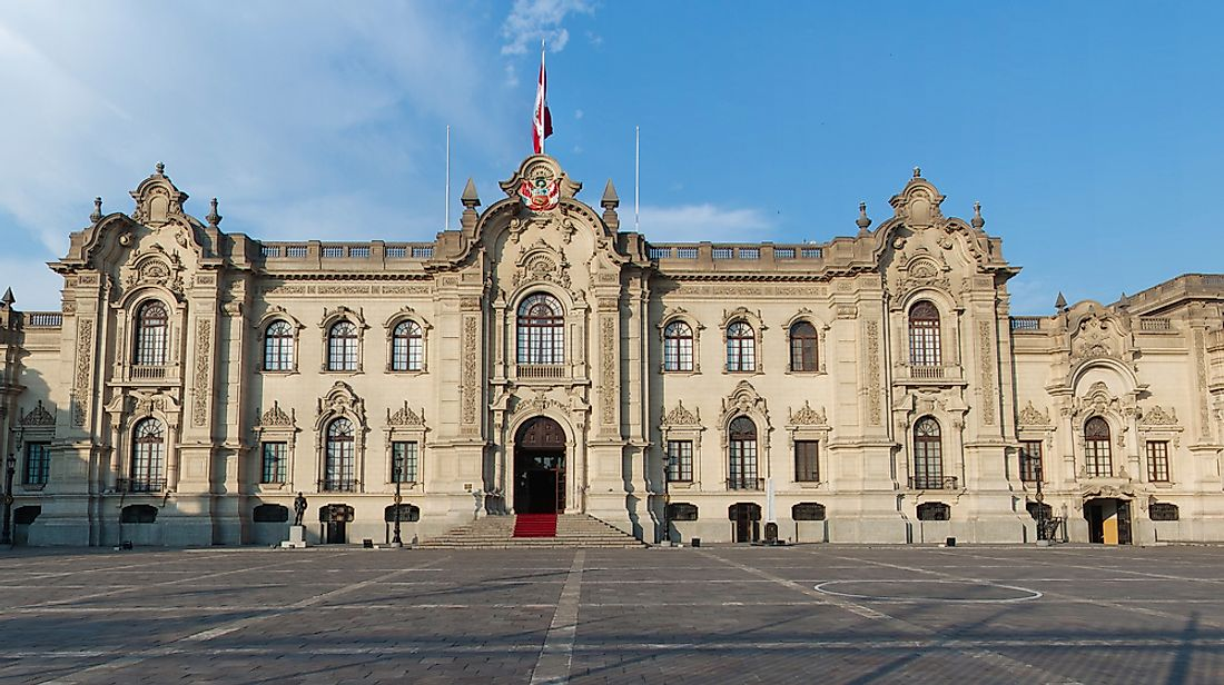 Government Palace in Lima, Peru.