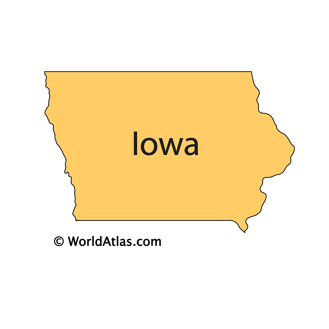 Outline Map of Iowa
