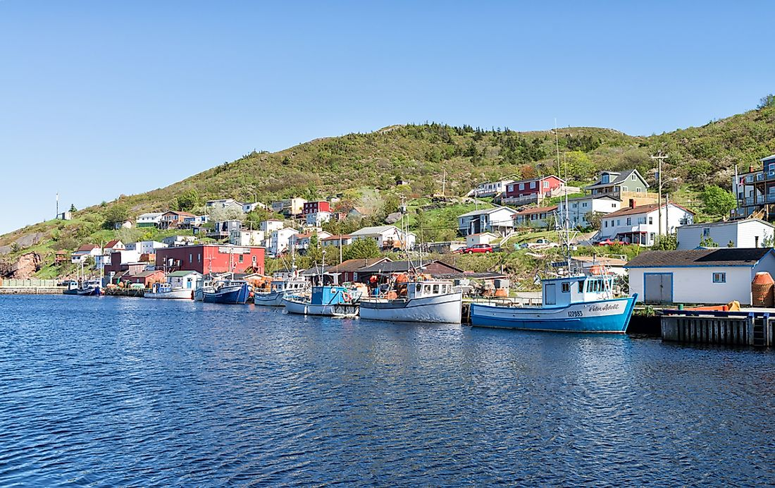Fishing village along the Newfoundland coast, near the Grand Banks of Newfoundland. Editorial credit: Claude Huot / Shutterstock.com