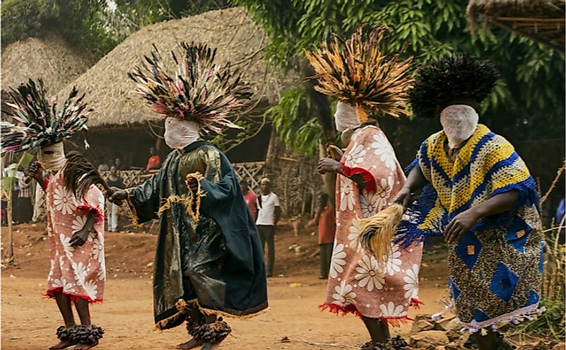 Traditional African dance at the Babungo Kingdom in Cameroon. Editorial credit: akturer / Shutterstock.com