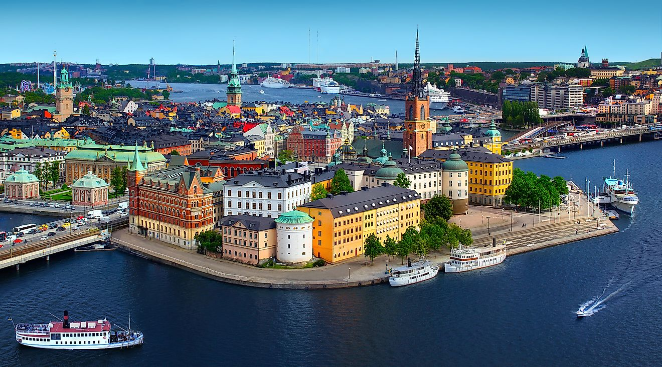 Panorama of Stockholm, Sweden, one of the Northern European countries. Image credit: Mikael Damkier/Shutterstock.com