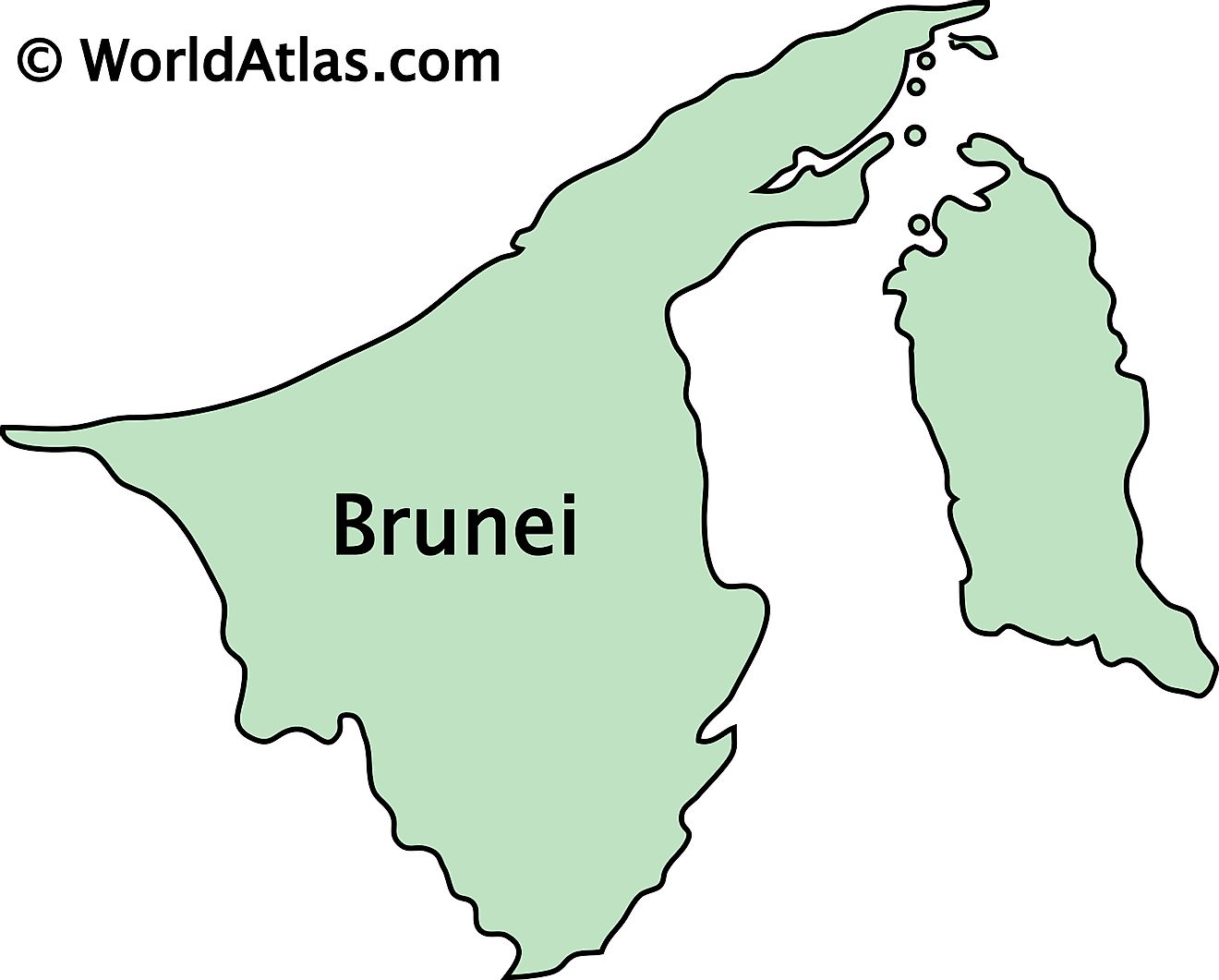 Outline Map of Brunei