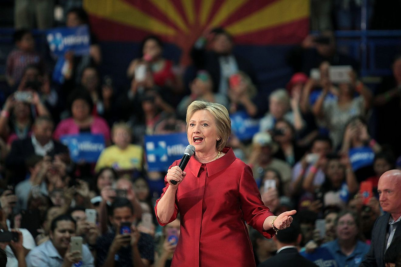 Hillary Clinton at an event in Phoenix, Arizona in March 2016. Image credit: Gage Skidmore/Wikimedia.org