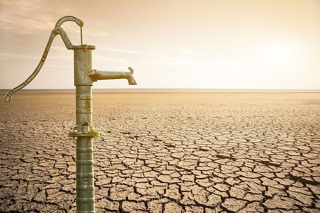 An insufficient supply of water is an example of scarcity.