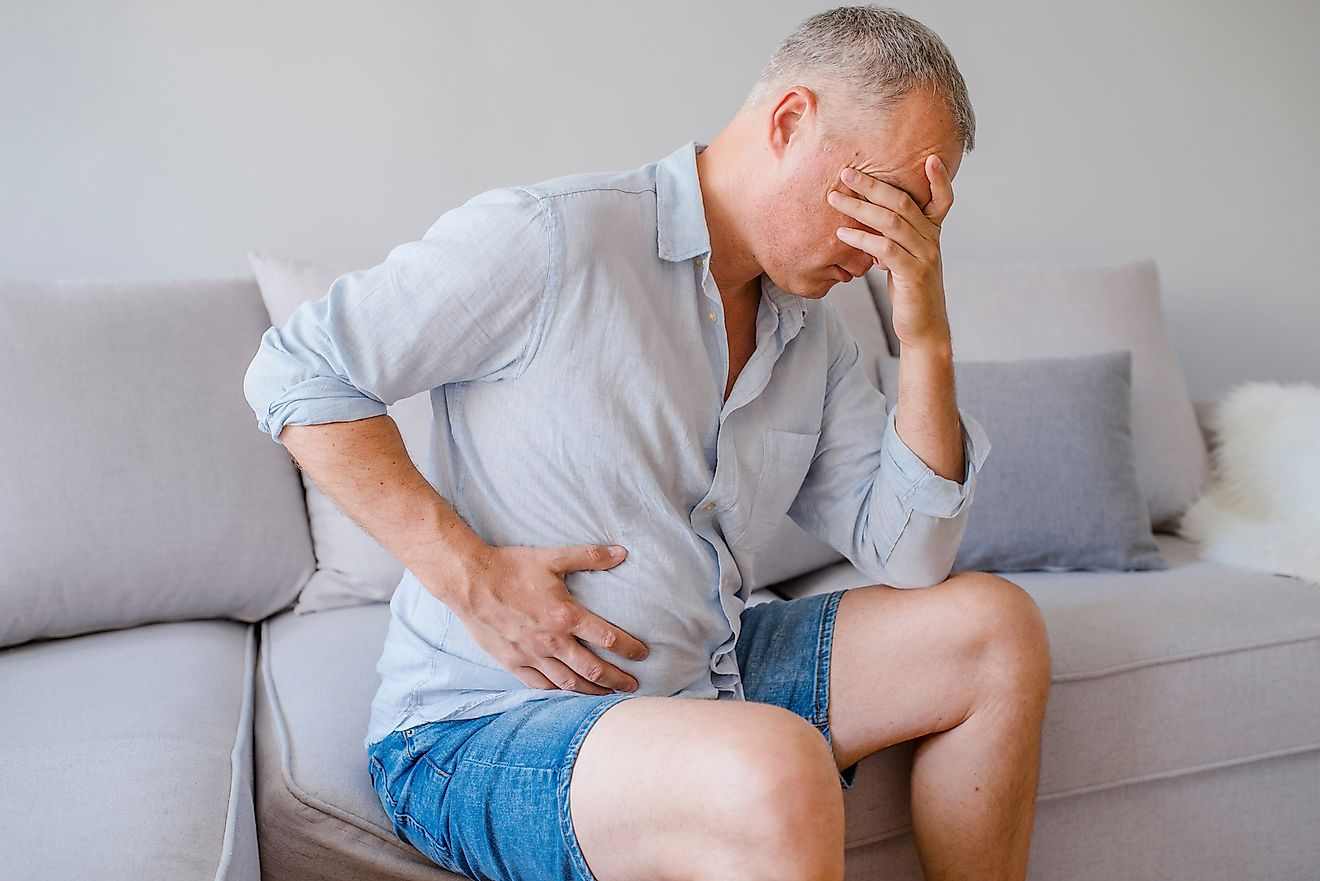 Appendix cancer can lead to intense stomach pain. Image credit: Dragana Gordic/Shutterstock.com