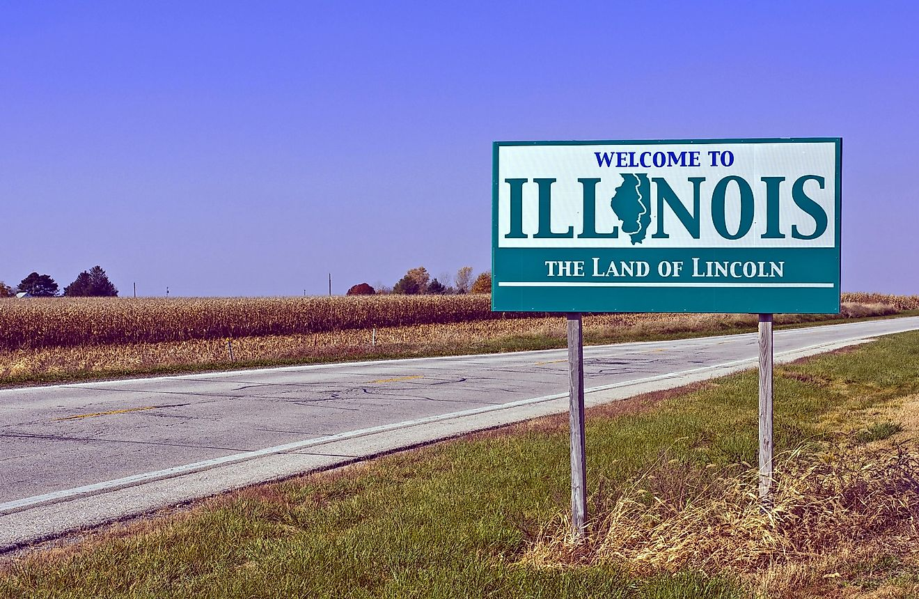 Illinois state sign.
