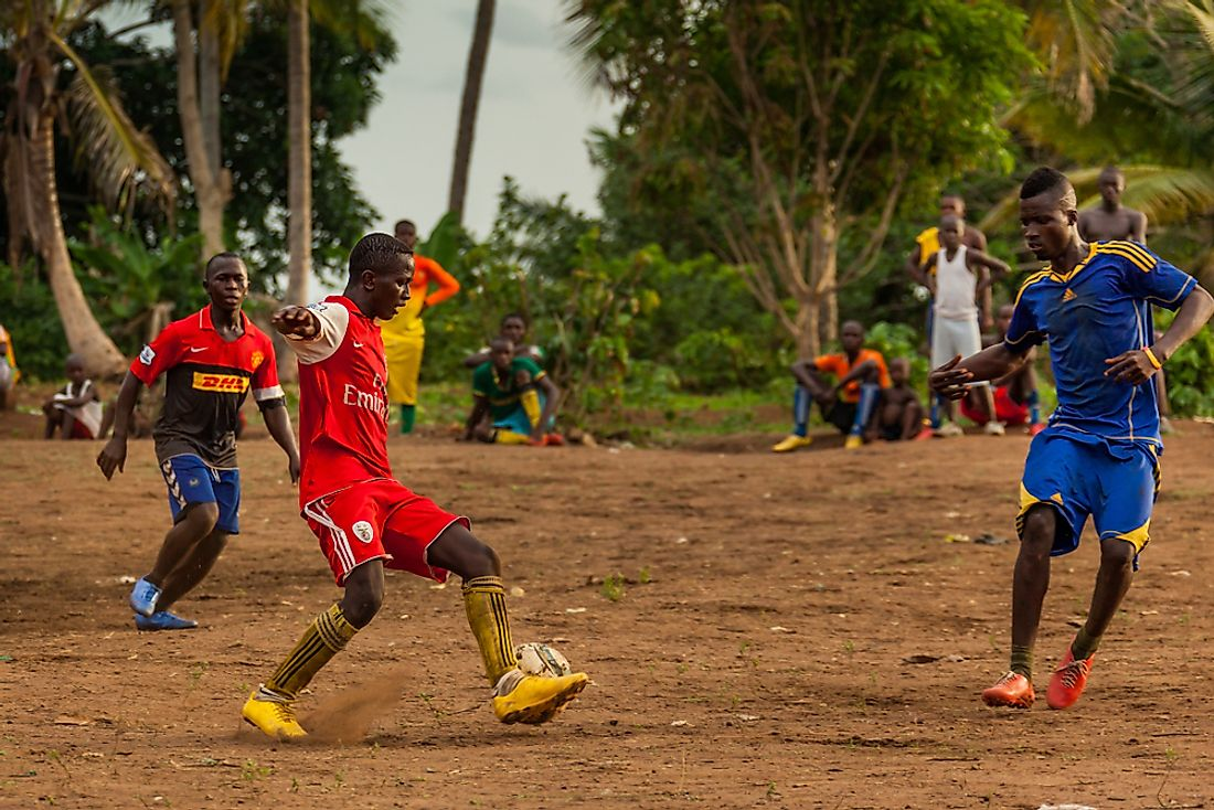 Football is a popular sport in Sierra Leone. Image credit: robertonencini / Shutterstock.com