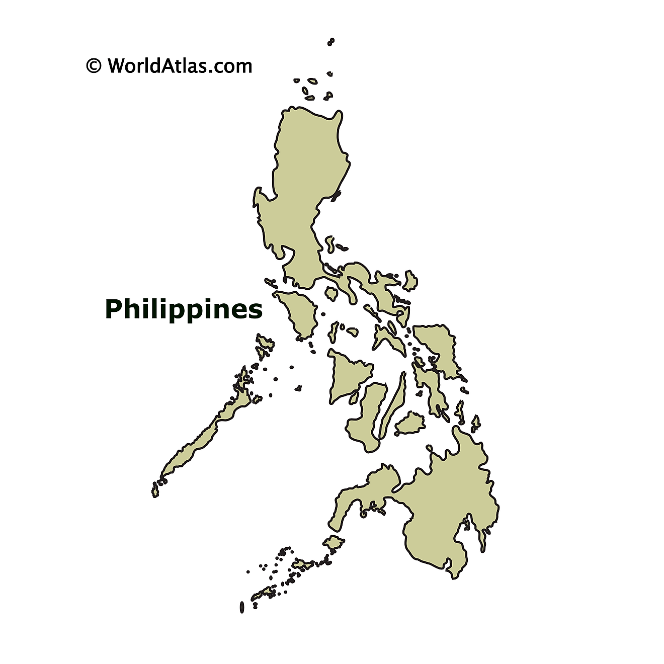 Outline Map of Philippines