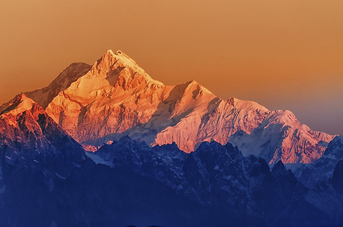 Mount Kanchenjugha, the undisputed highest point of India.
