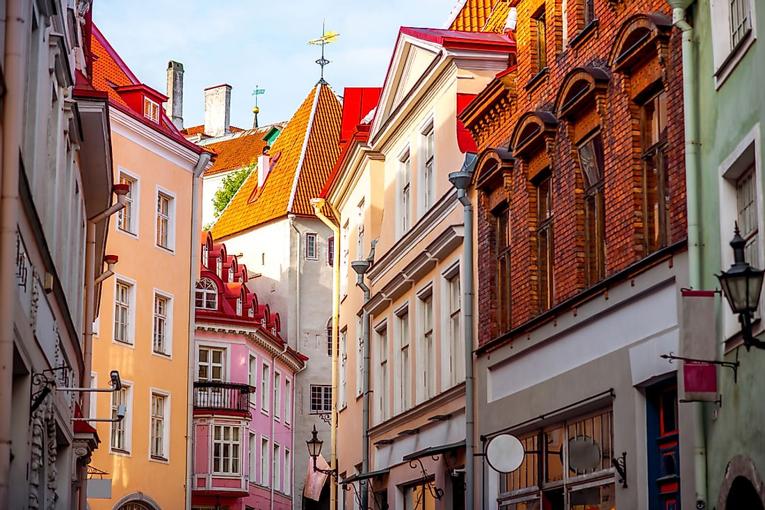 An example of a typical street in Tallinn's old town.