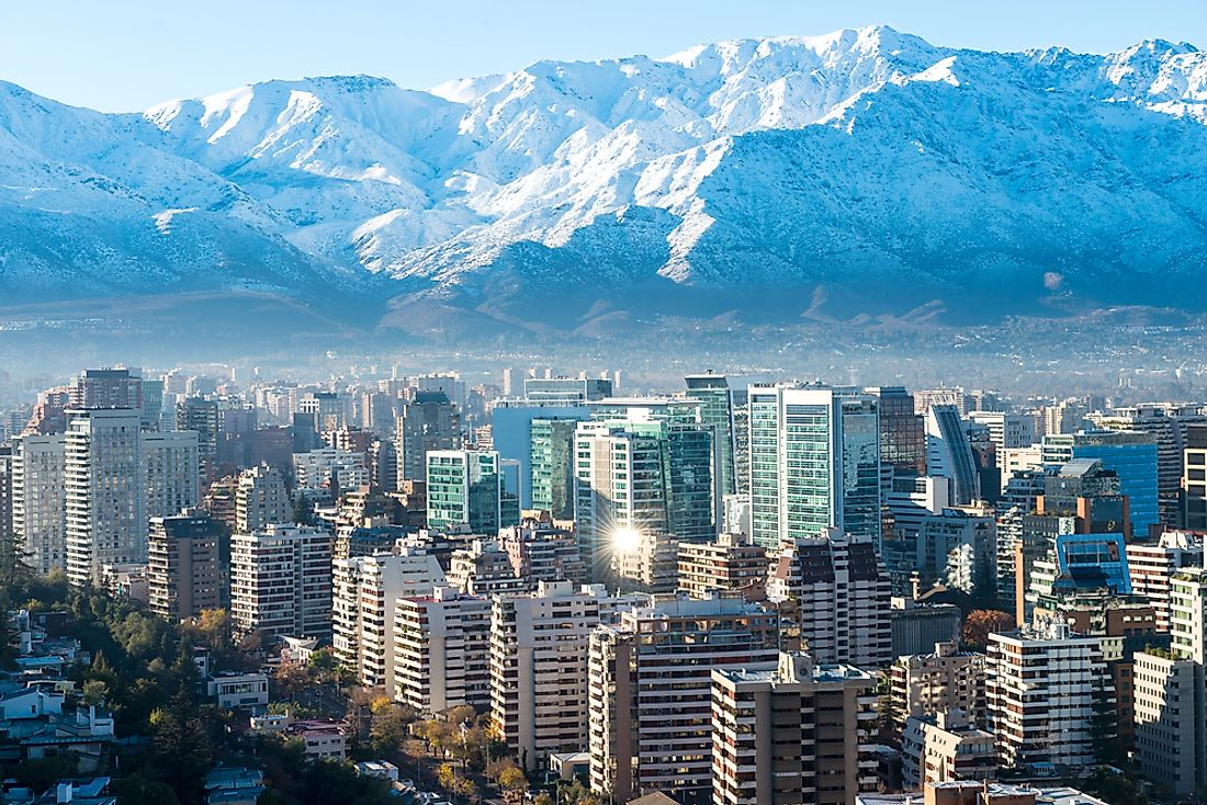 Santiago, the capital city of Chile.