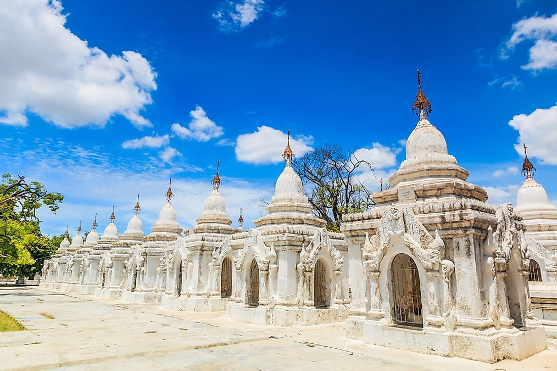 Kuthodaw Temple, in Myanmar, also known as Burma.