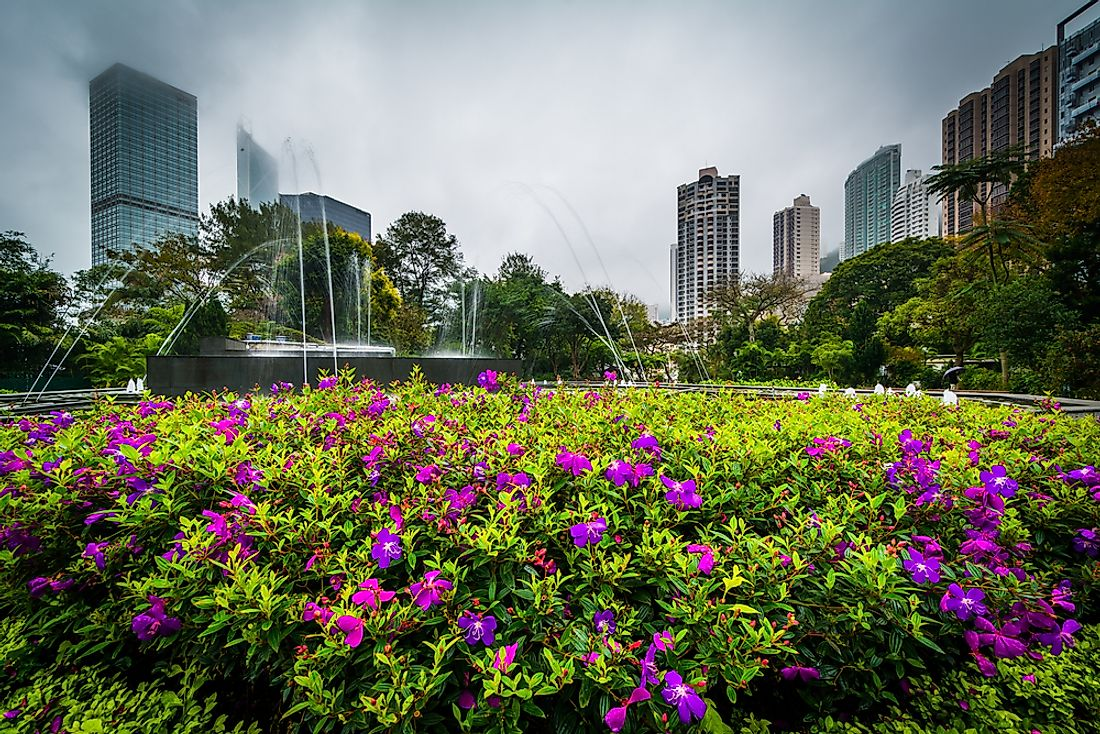 The Zoological and Botanical Gardens in Hong Kong.