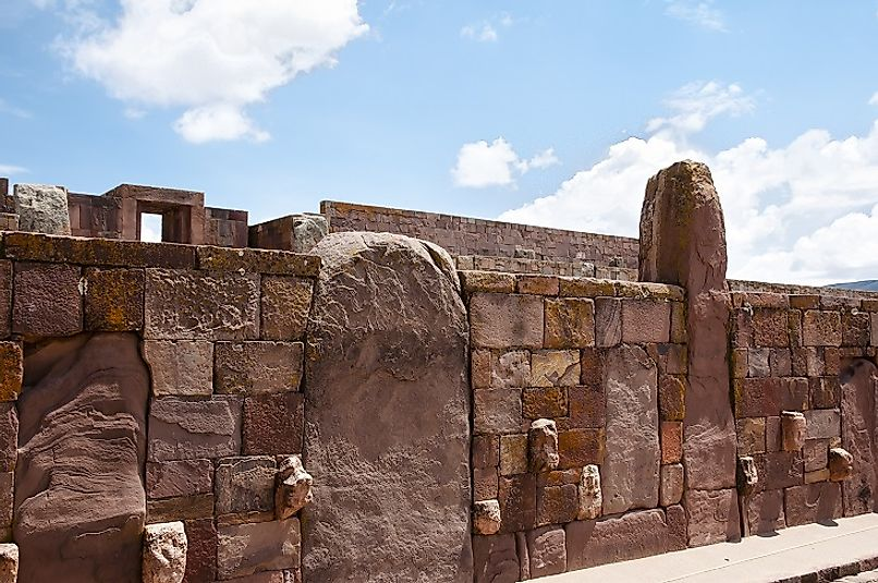 The ancient Tiwanaku ruins.