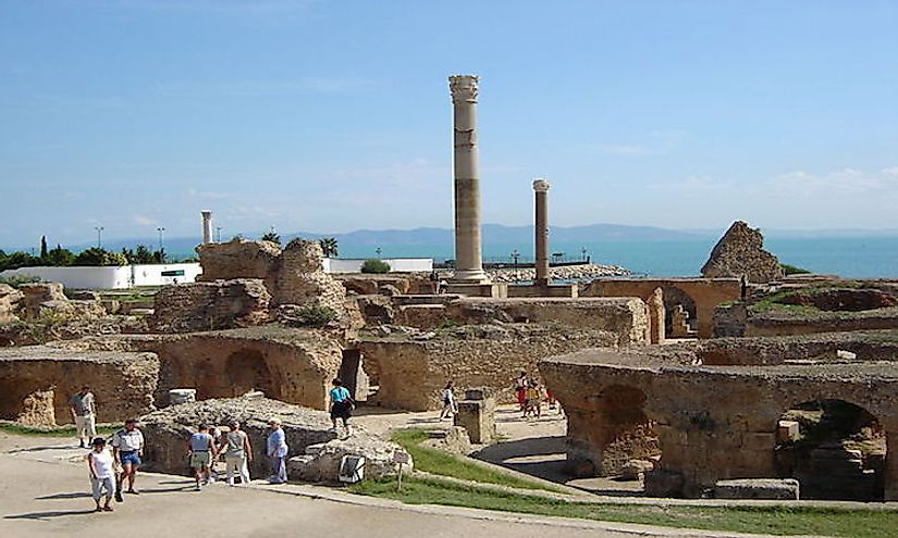 The Carthage Archaeological Site in Tunisia, a cultural UNESCO World Heritage Site.