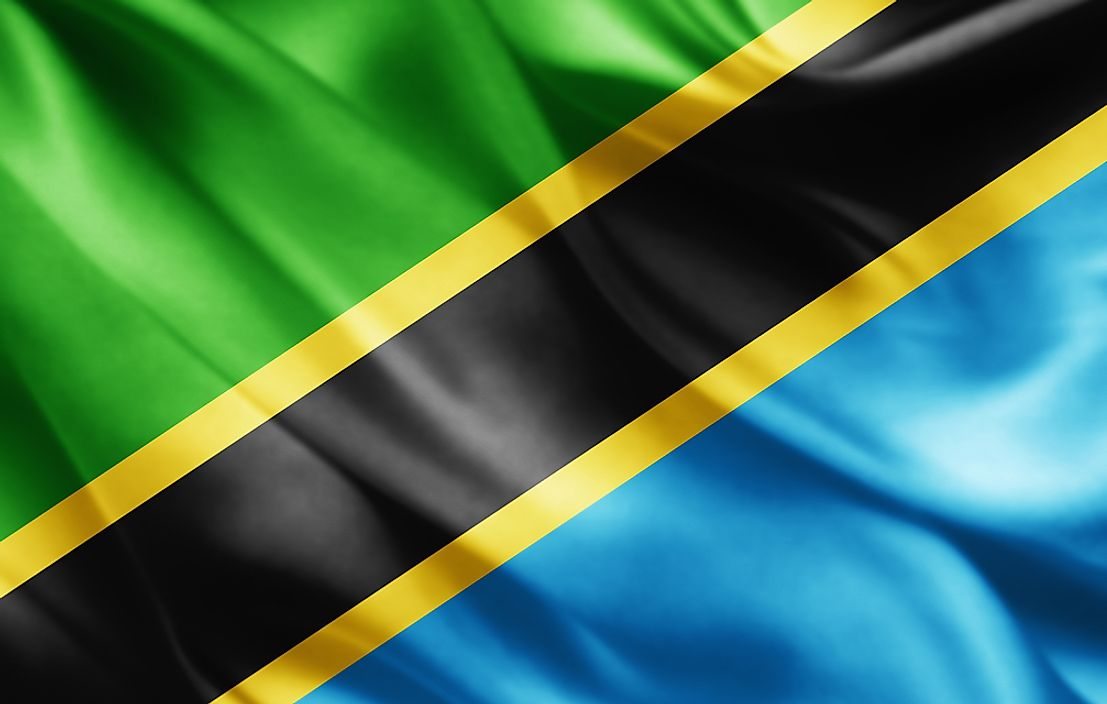The flag of Tanzania.