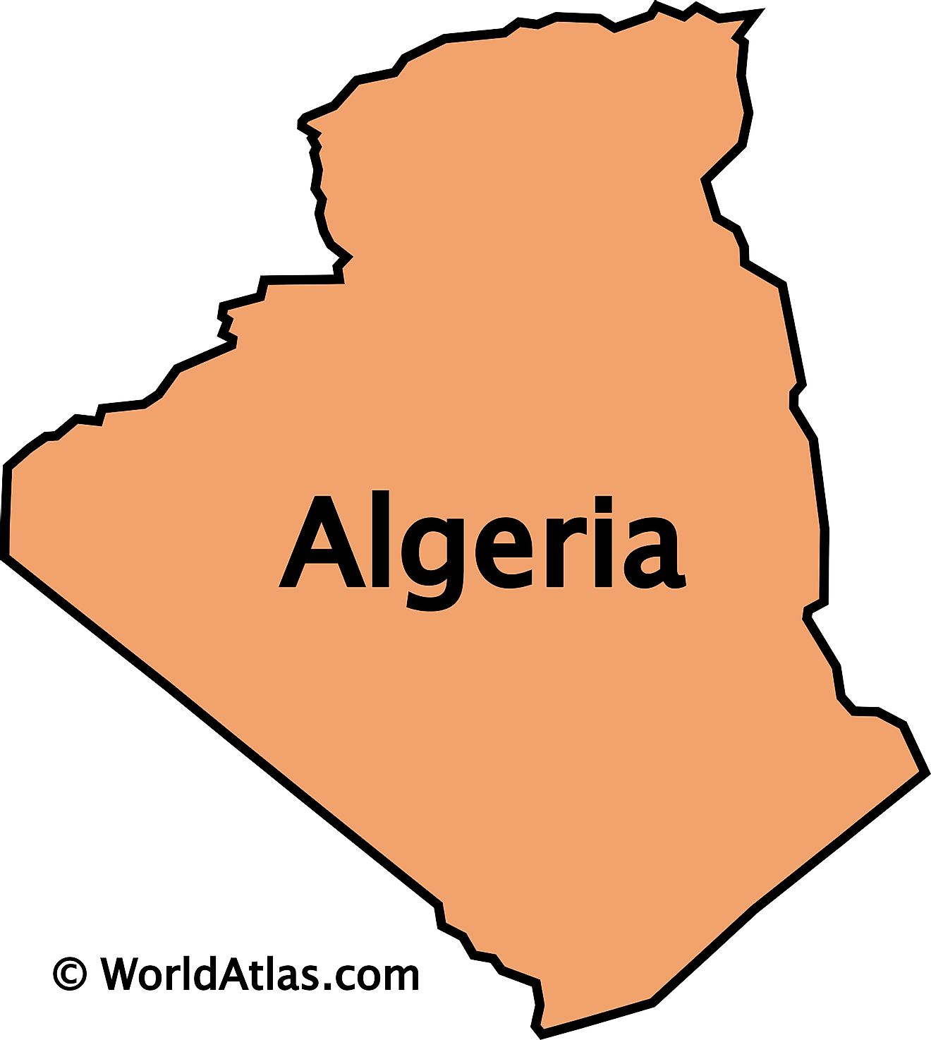 Outline map of Algeria