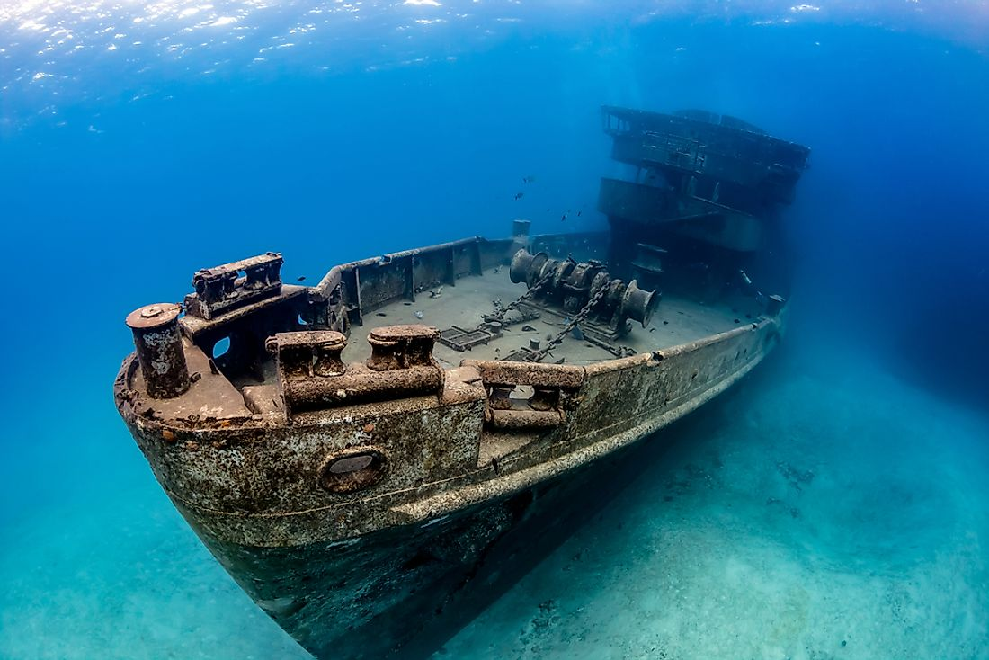 The ocean is thought to be home to thousands if not millions of undiscovered shipwrecks.