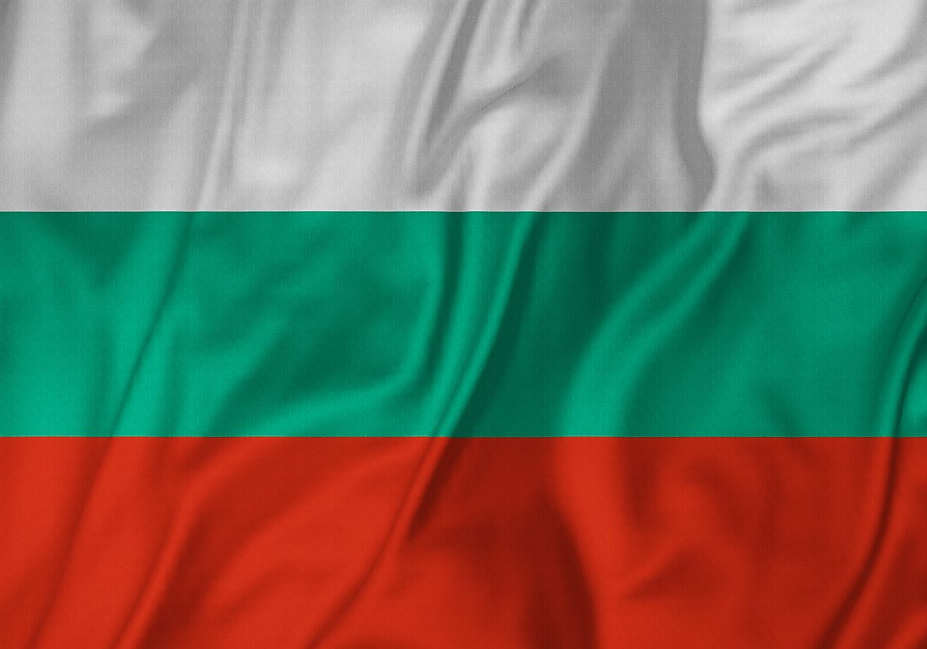 The official flag of Bulgaria.