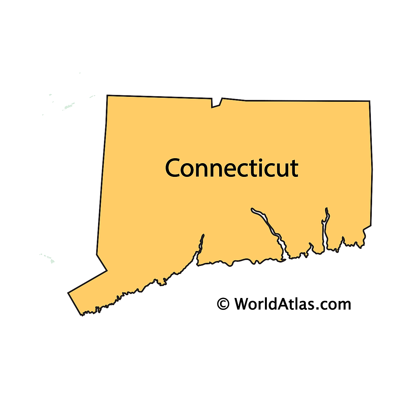 Outline Map of Connecticut