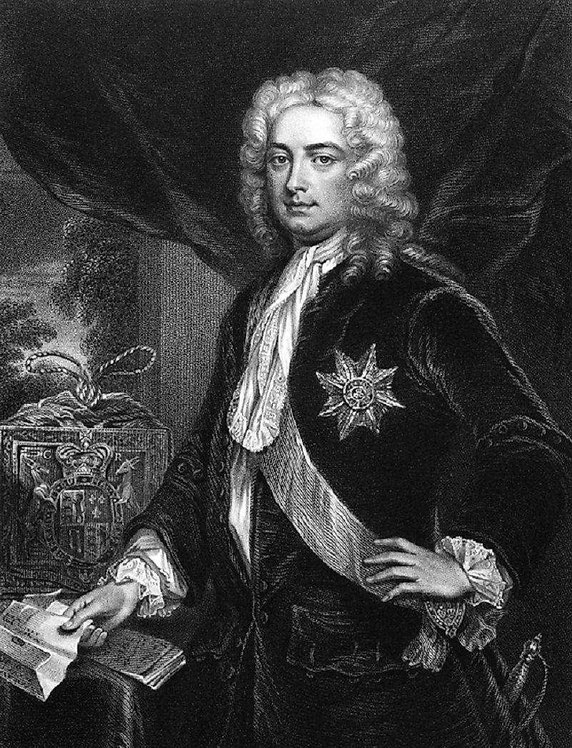 Robert Walpole, 1st Earl of Orford, in his earlier political years. He served as British Prime Minister from 1721 to 1742, under Kings George I and George II.