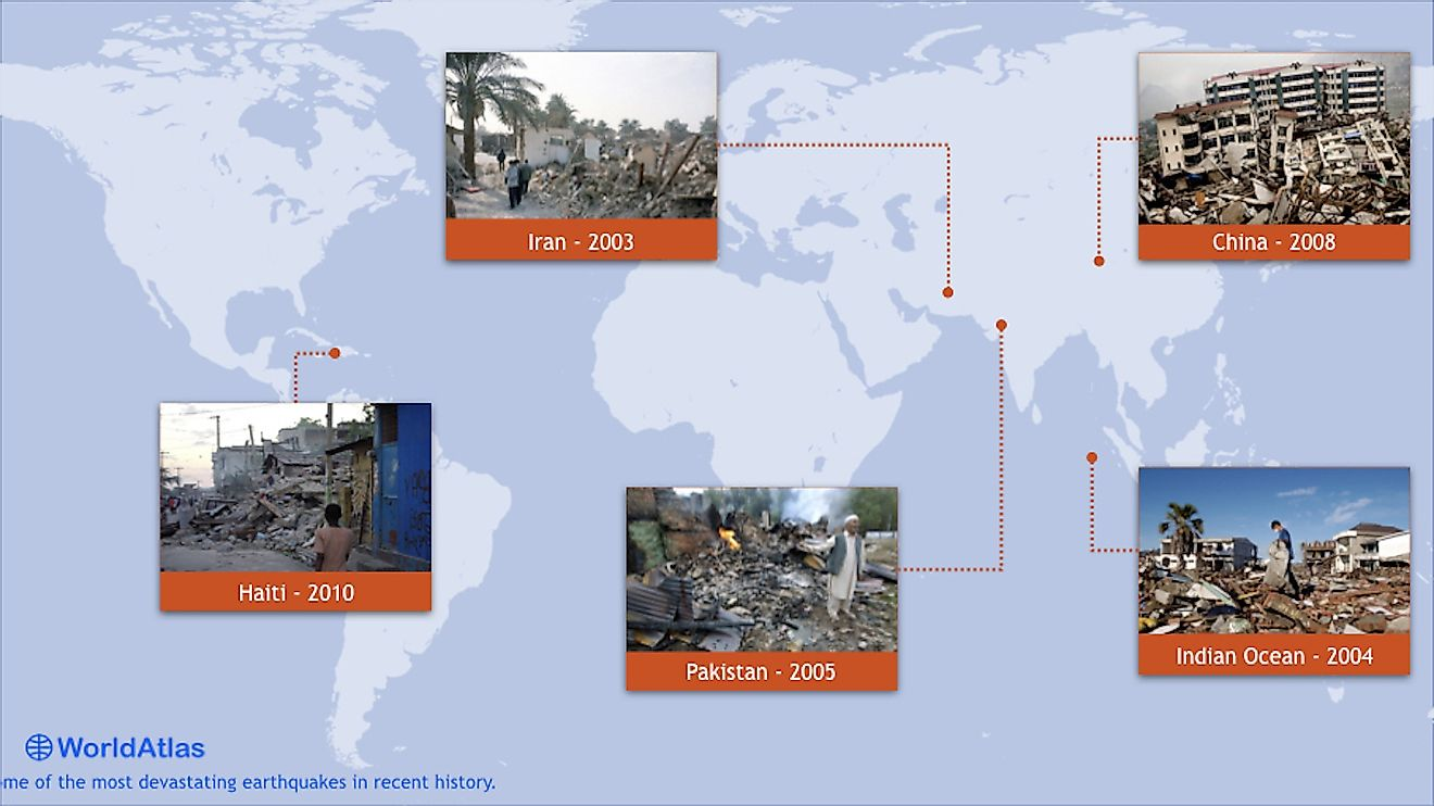 Infographic showing some of the deadliest earthquakes of this century.