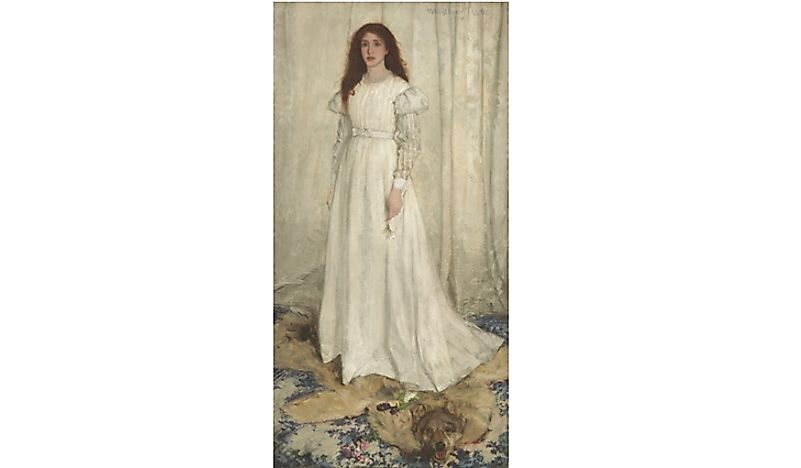 "James Whistler, ""Symphony in White, no. 1""."