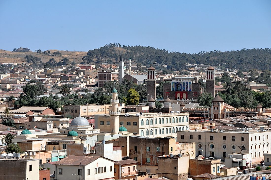 Asmara, Eritrea. Eritrea is seen as a one-party state.