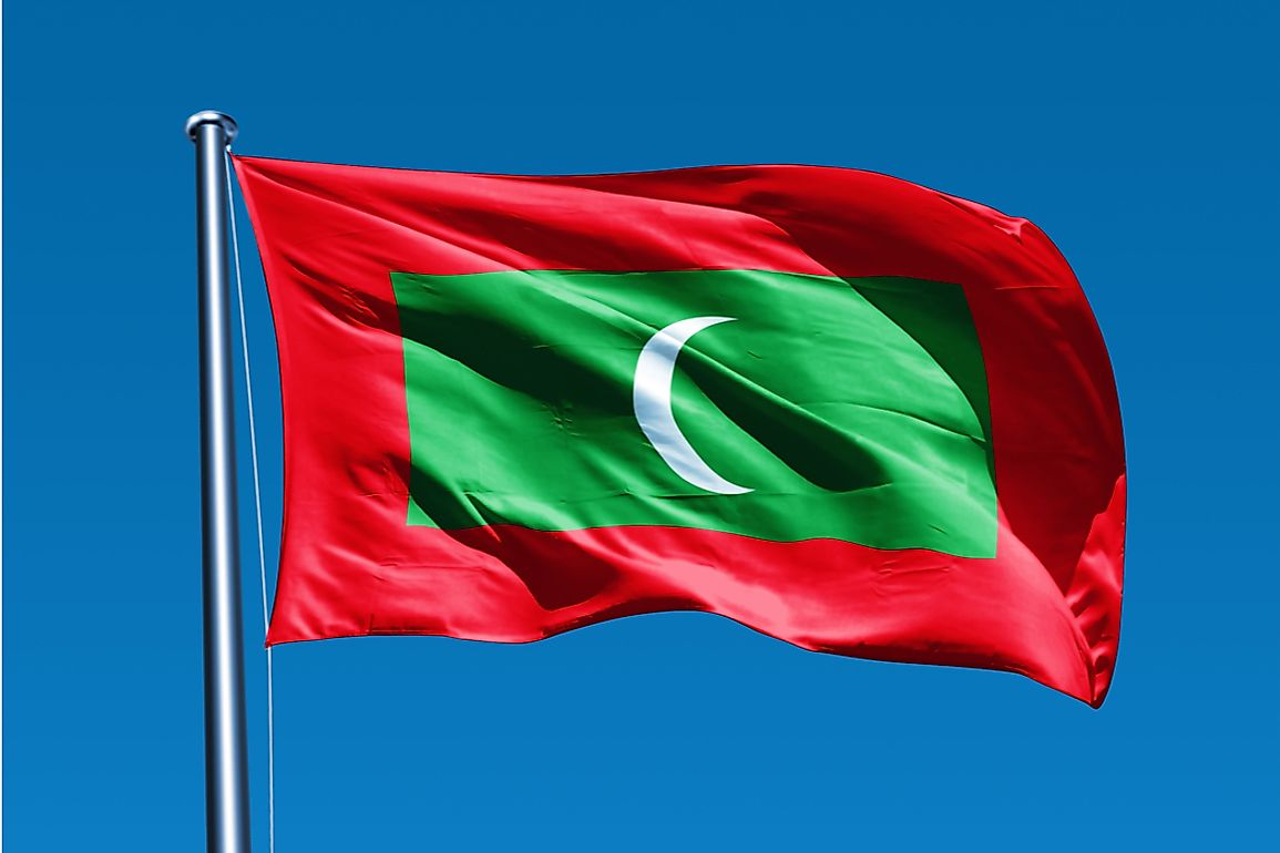 The current flag was adopted upon The Maldives sovereignty in 1965.