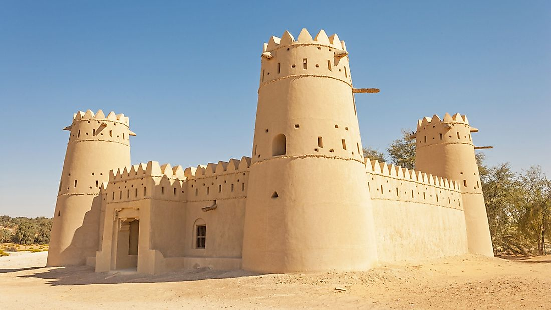 A fort in the dunes of Liwa, UAE.