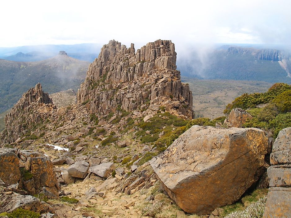 Mount Ossa in Cradle Mountain-Lake St Clair National Park, Tasmania, Australia.