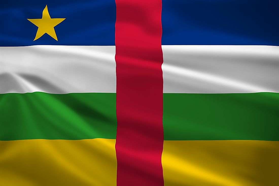 The flag of the Central African Republic.