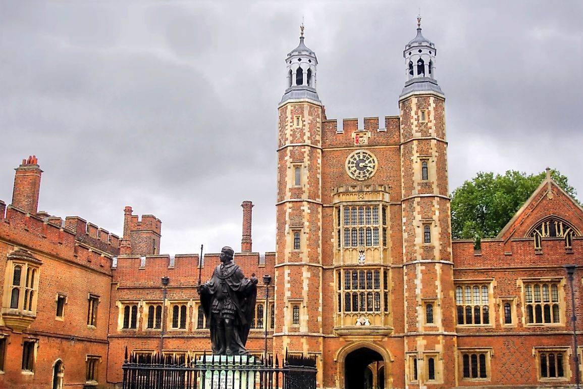 Eton College is one of the G20 schools in the UK.