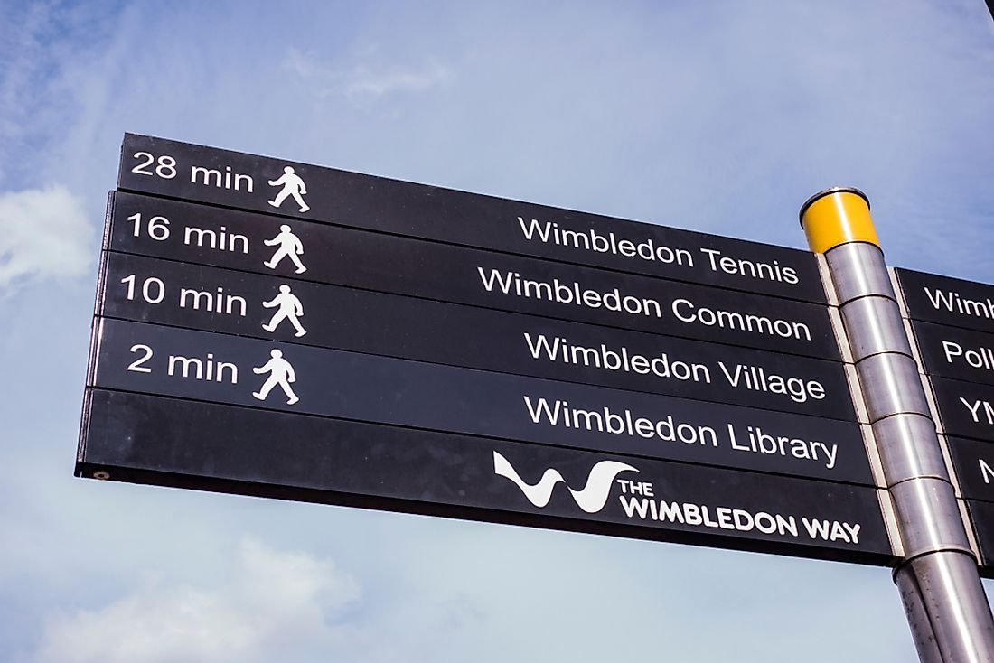 The city of Wimbledon is known for its annual tennis championships. Editorial credit: Willy Barton / Shutterstock.com