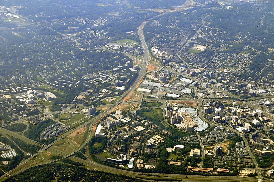 Tysons Corner, Virginia, is one of the most famous examples of an edge city.