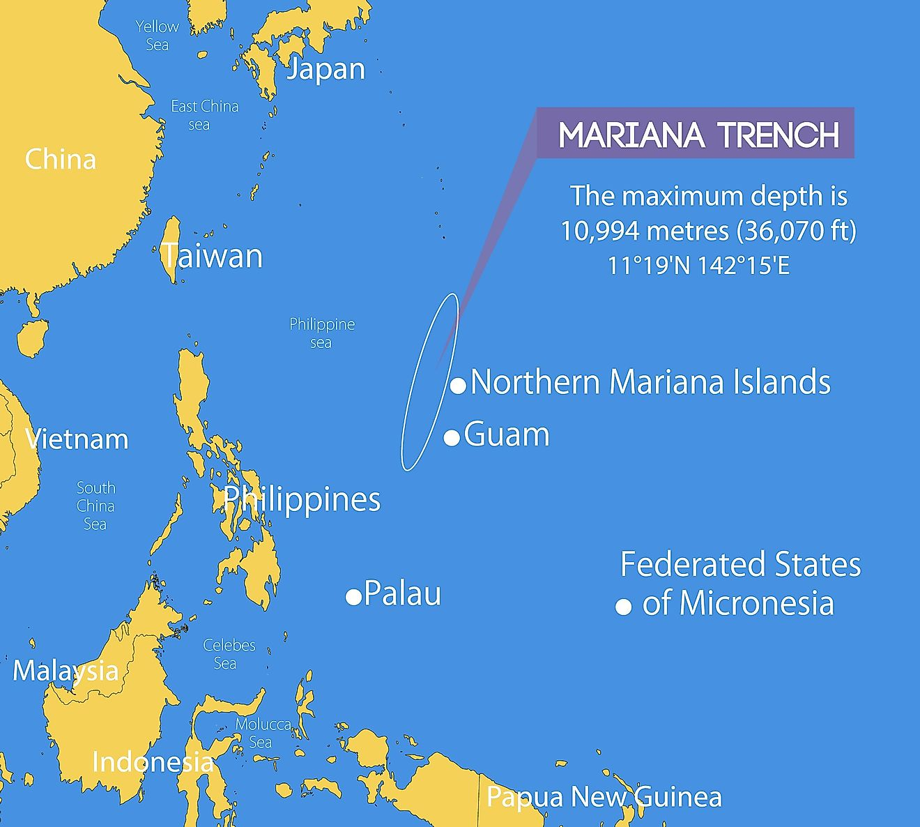 The Mariana Trench is so vast, and the pressure there is so strong that there have been only four expeditions that went there.