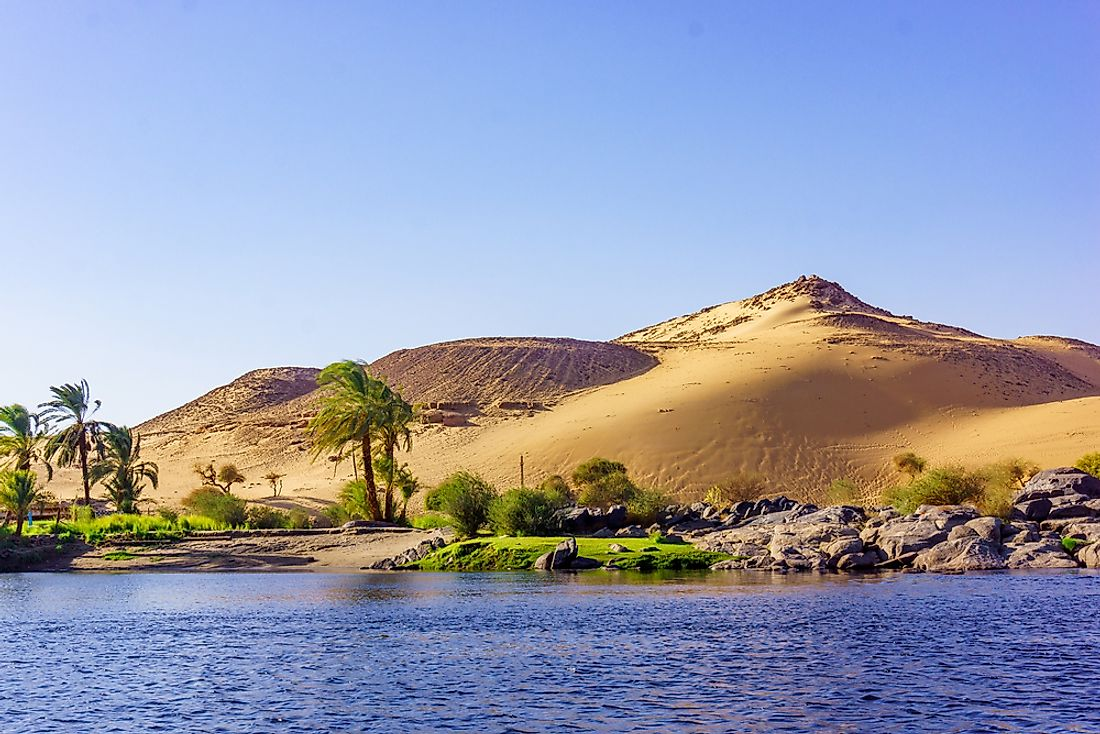 The Nile River is an example of an exotic river.