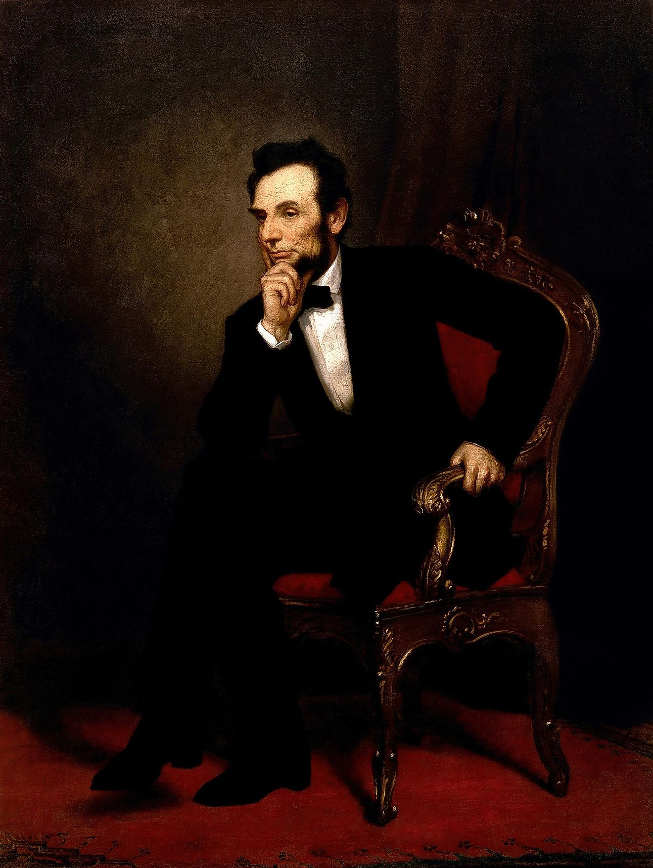 A painting of Abraham Lincoln